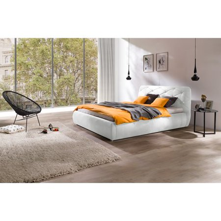 Orren ellis bonsai modern queen upholstered storage - Modern queen bed with storage ...
