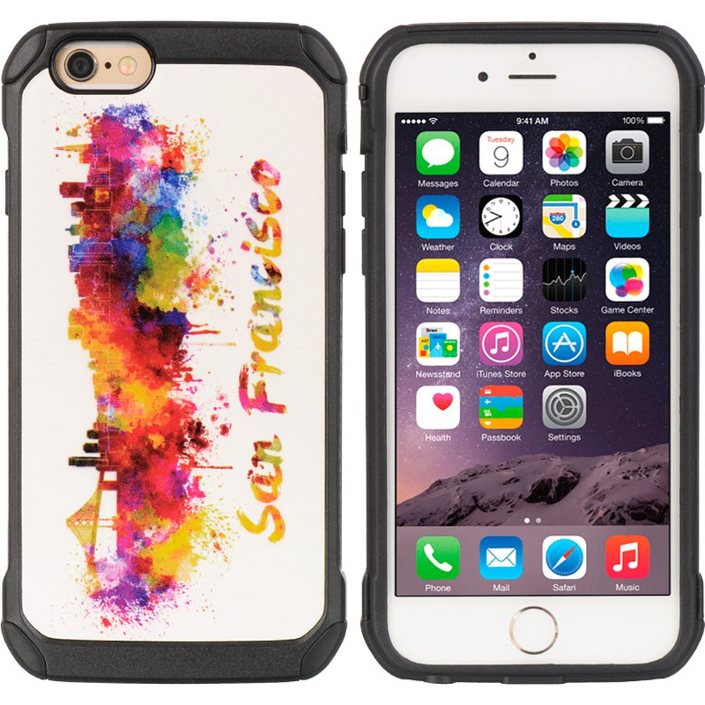 Insten Hard Dual Layer TPU Case For Apple iPhone 6 / 6s - Colorful - image 3 de 3