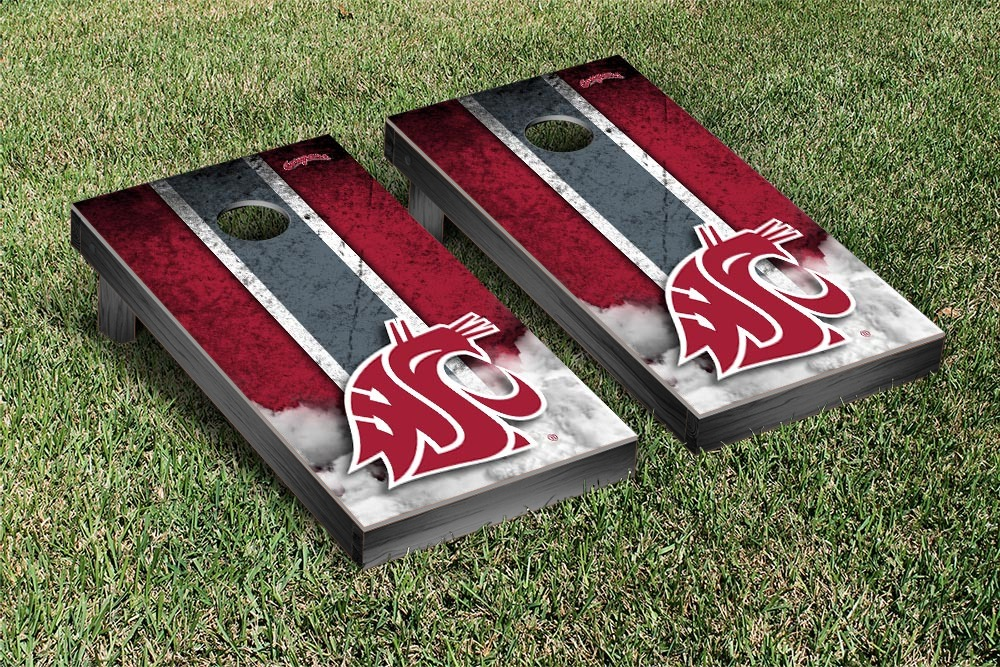 Washington State Cougars Regulation Cornhole Game Set Vintage Version by Victory Tailgate
