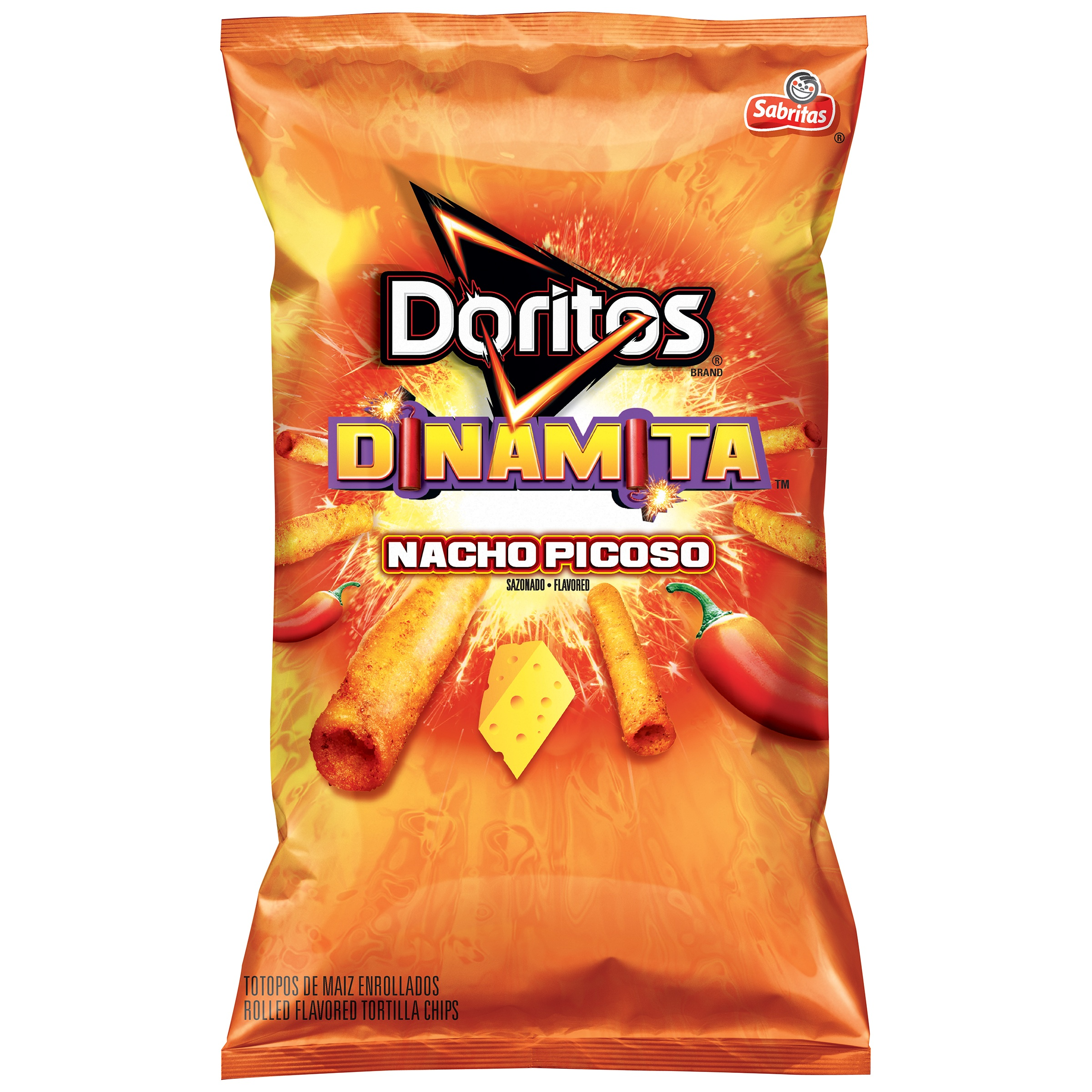 Doritos Dinamita Nacho Picoso Rolled Tortilla Chips 4 Ounce Bag