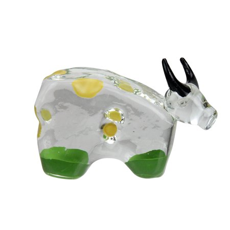 Cotton Candy Bull With Black Horns Collectible Glass Figurine #59052 (Collectible Cotton)