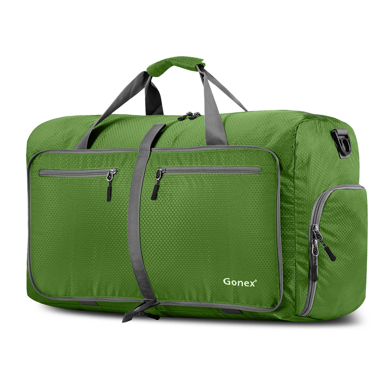 Gonex 60L Foldable Travel Duffel Bag Water & Tear Resistant