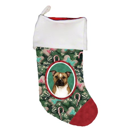 Terrier Holiday Stocking - Pit Bull Terrier -   Best of Breed Dog Breed Christmas Stocking