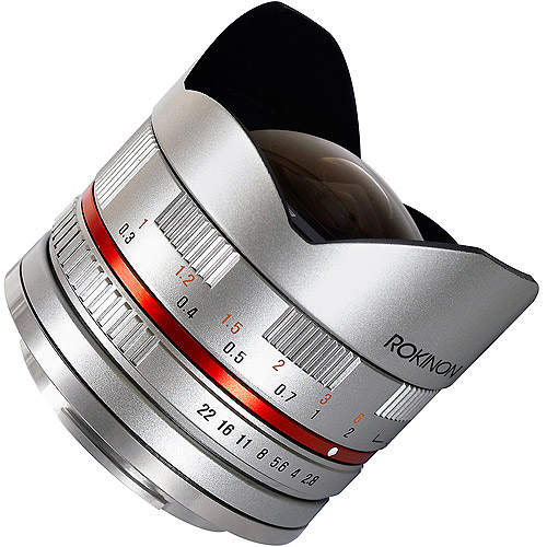 Rokinon 8mm F2.8 UMC Ultra Wide-Angle Fisheye Lens for Sony E-Mount, Silver