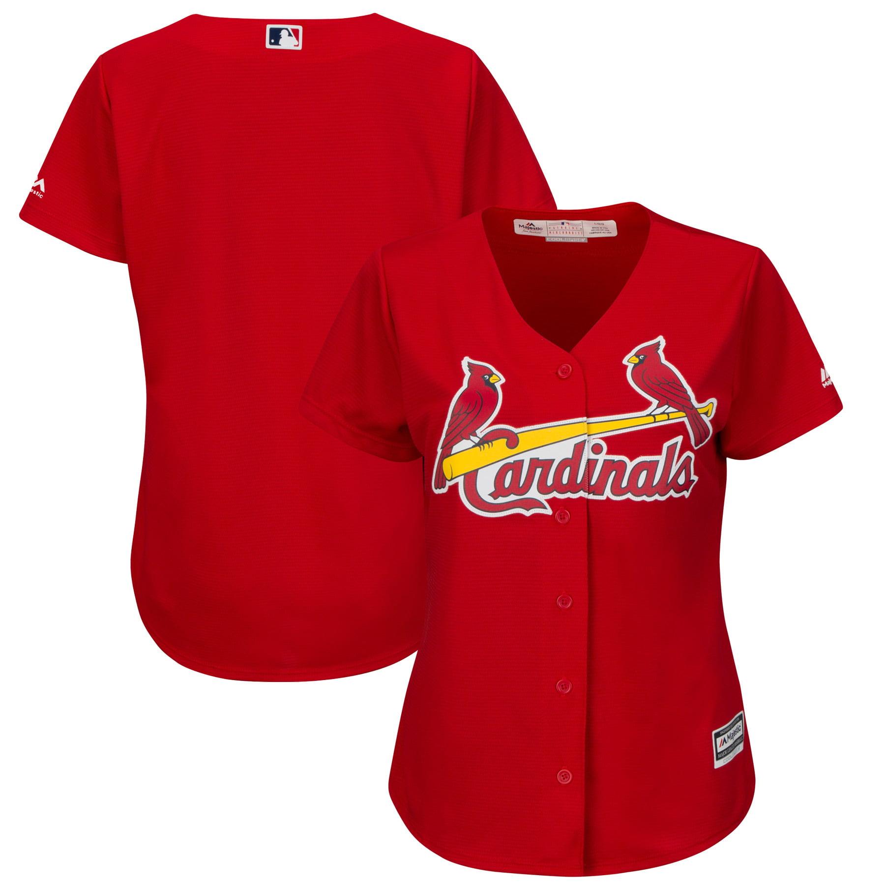 St. Louis Cardinals Majestic Women's Fashion Plus Size Cool Base Team Jersey - Scarlet
