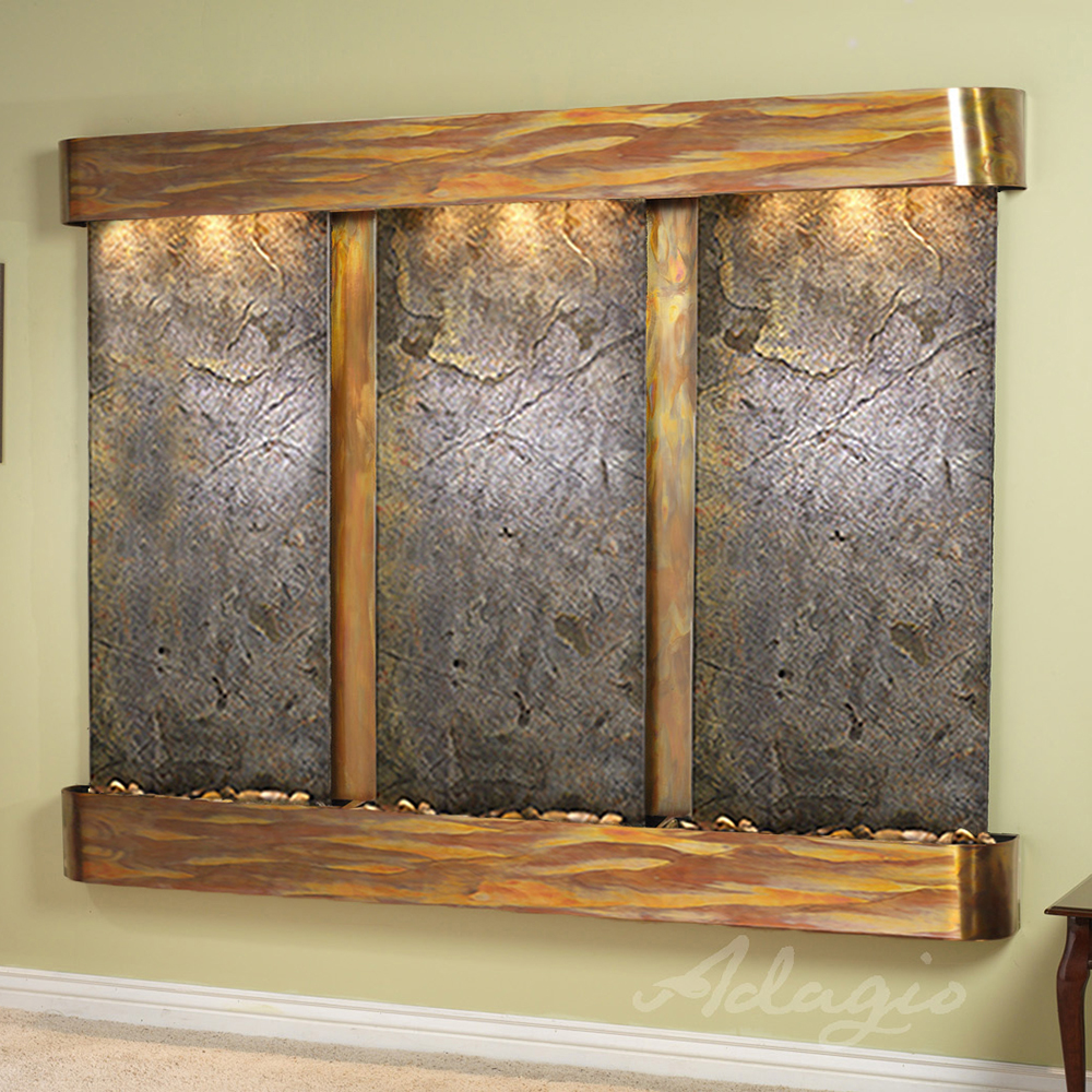 Deep Creek Falls Fountain - Rustic Copper - Rounded Edges - Choose Options
