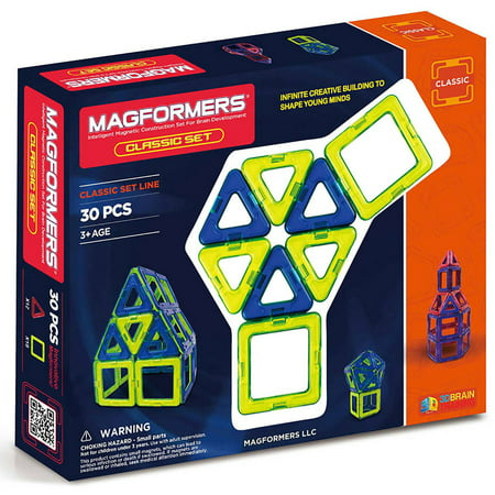 Magformers Classic 30-Piece Magnetic Construction Set STEM Toy -