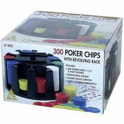 300 Poker Chips with Revolving Rack by John N. Hansen Co.