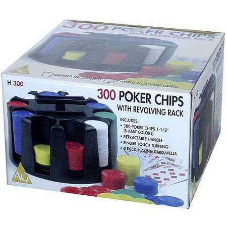 Power Chip - 300 Poker Chips with Revolving Rack