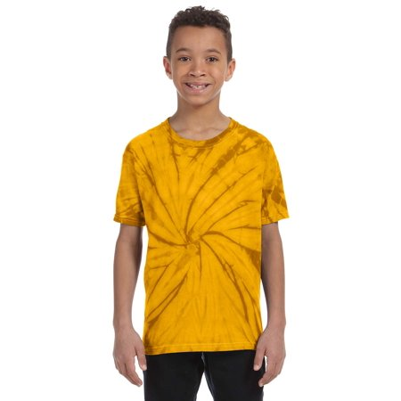 A Product of Tie-Dye Youth 5.4 oz., 100% Cotton Tie-Dyed T-Shirt - Spider - SPIDER GOLD - S [Saving and Discount on bulk, Code Christo] - Ties In Bulk