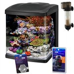 Coralife NEW STYLE Size 16 LED BioCube Aquarium with Protein Skimmer and FREE Hydrometer and Cleaning
