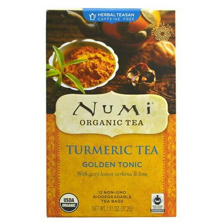 Numi Curcuma Thé d'or Tonic Bio, 12 Ct