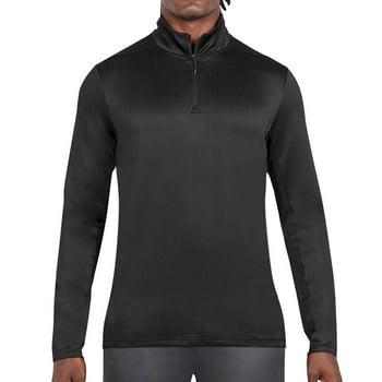 Layer 8 Men's Performance Circular Knit Quarter Zip in Black