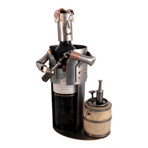 H & K SCULPTURES Sommelier 1 BottleTabletop Wine Rack