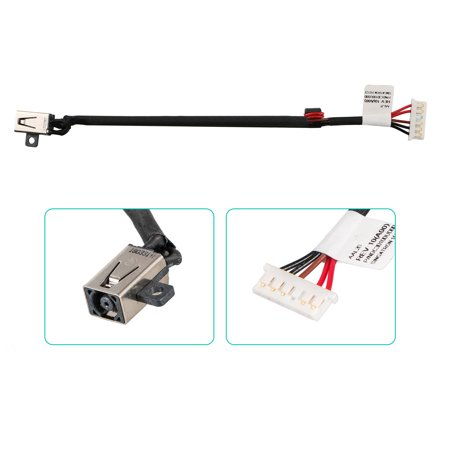 DC Power Jack with cable Dell Inspiron 15-5000 15-5555 15-5558 5551 5559 (Dell Power Connectors)