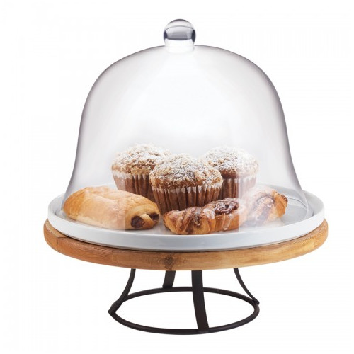 Cal-Mil Madera Reclaimed Wood Cake Stand Base