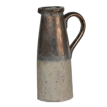 Ceramic Porcelain Pitcher - A&B Home Candia Ceramic Pitcher, Sienna Brown