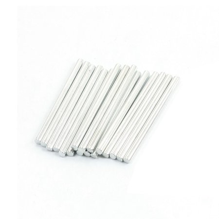 Unique Bargains Toy Car Frame Part Straight Stainless Steel Round Rods Bar 32Mm X 2Mm 20 Pcs