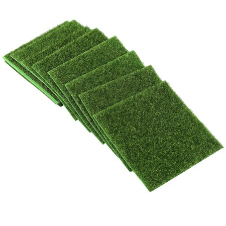 Rdeghly 10 PCS Artificial Grass Mat Turf Lawn Garden Micro Landscape Ornament Home Decor, Artificial Turf, Synthetic Turf - image 5 of 8
