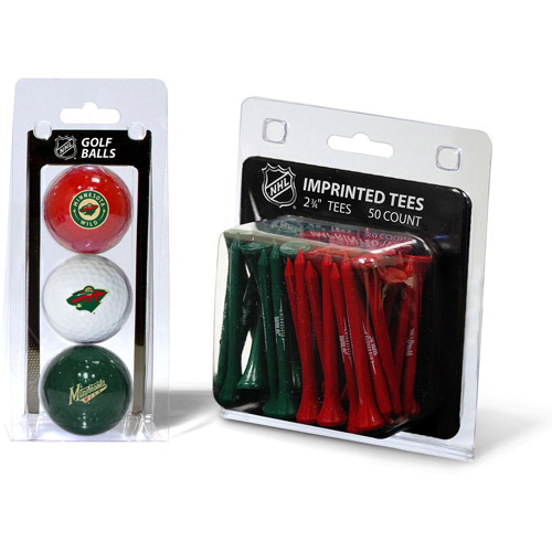 Team Golf NHL Minnesota Wild 3 Golf Balls And 50 Golf Tees