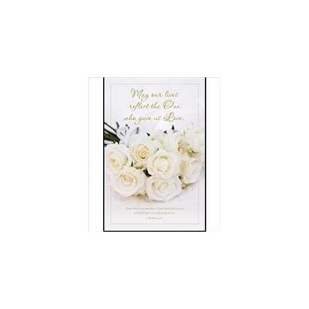 Bulletin-May Our Lives Reflect The One (Wedding) (1 John 4:12 KJV) (Pack Of 100)](Wedding Bulletins)