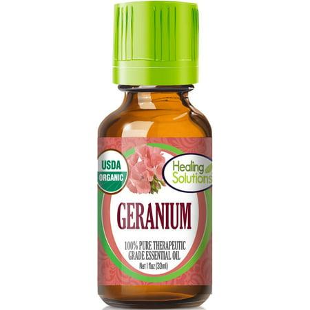 Organic Geranium Essential Oil (100% Pure - USDA Certified Organic) Best Therapeutic Grade Essential Oil -