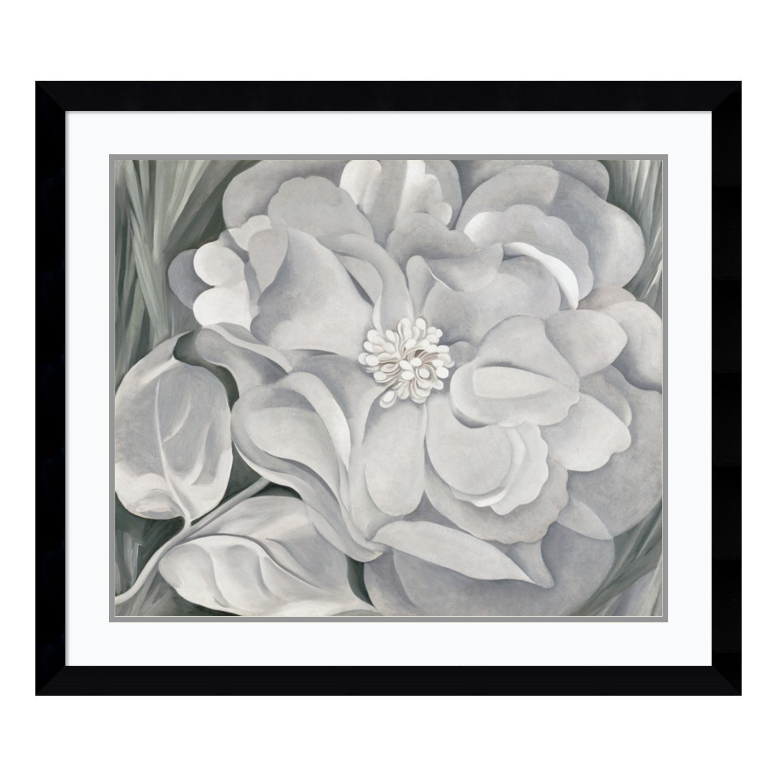 The White Calico Flower, 1931 Framed Wall Art - 38.37W x 33.37H in.