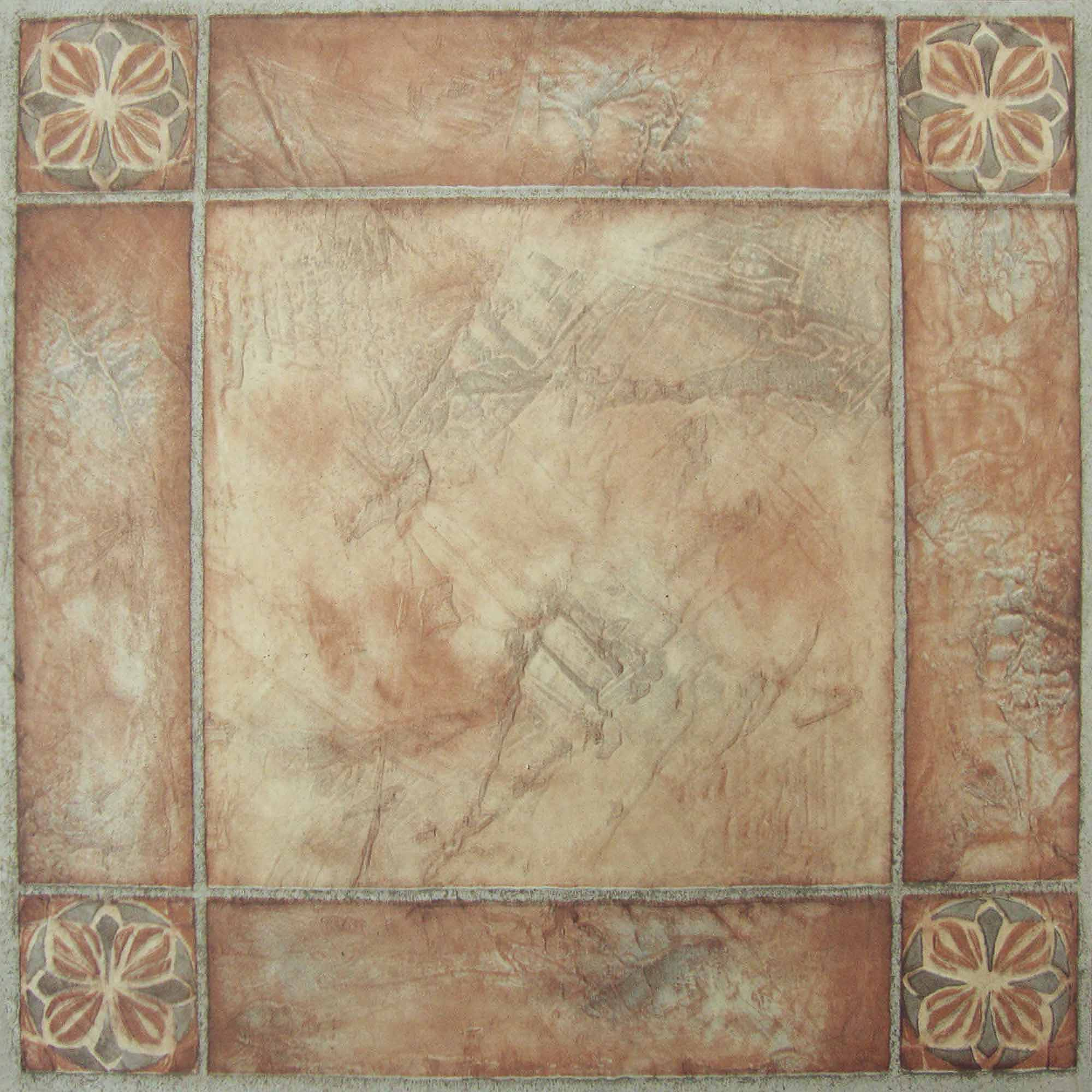 NEXUS Spanish Rose 12x12 Self Adhesive Vinyl Floor Tile - 20 Tiles/20 Sq.Ft.