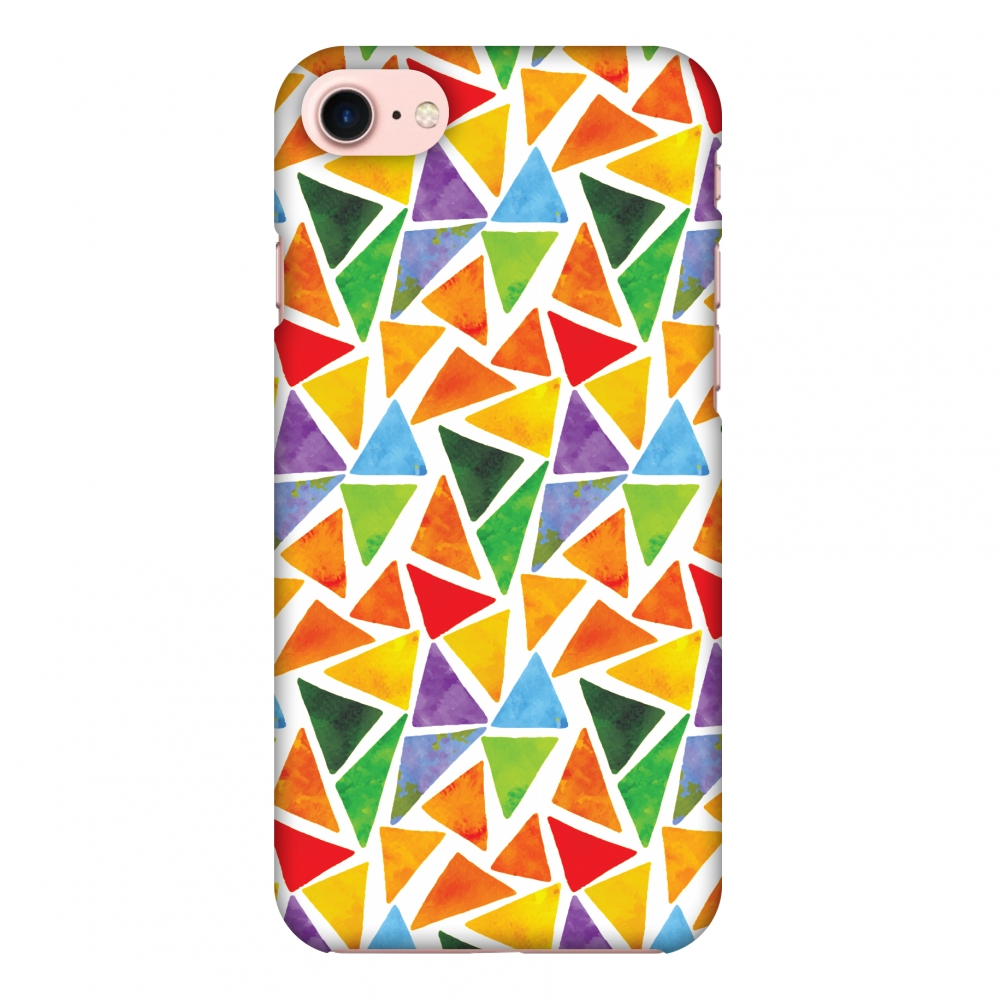 iPhone 8 Case - Bold Shapes, Hard Plastic Back Cover. Slim Profile Cute Printed Designer Snap on Case with Screen Cleaning Kit
