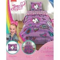 JoJo Siwa 5pc Twin Bedding Collection with Comforter, Sheet Set