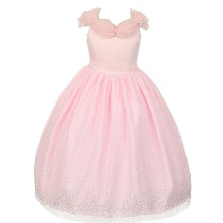 Rainkids Big Girls Pink Rhinestones Sparkly Tulle Tiara Dress 8