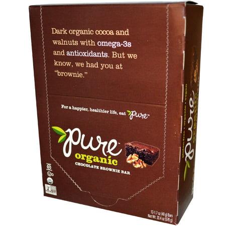 - Pure Bar, Organic, Chocolate Brownie, 12 Bars, 1.7 oz (48 g) Each(pack of 1)