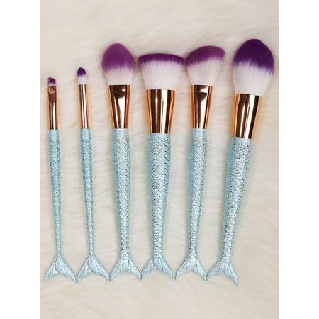 6pcs mermaid makeup brushes set mermaid makeup brushes
