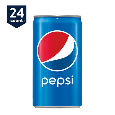 Pepsi Soda Mini Cans, 7.5 oz Cans, 24 (Sola 24 Inch)