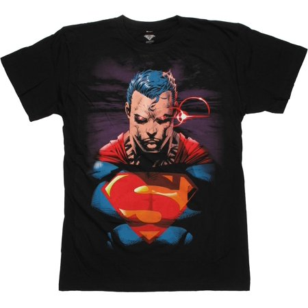 Superman Heat Vision Jim Lee T Shirt Sheer