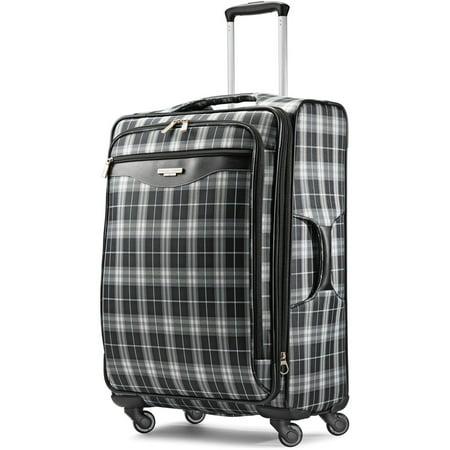 "American Tourister 25"" Plaid Fashion Softside Spinner Luggage"