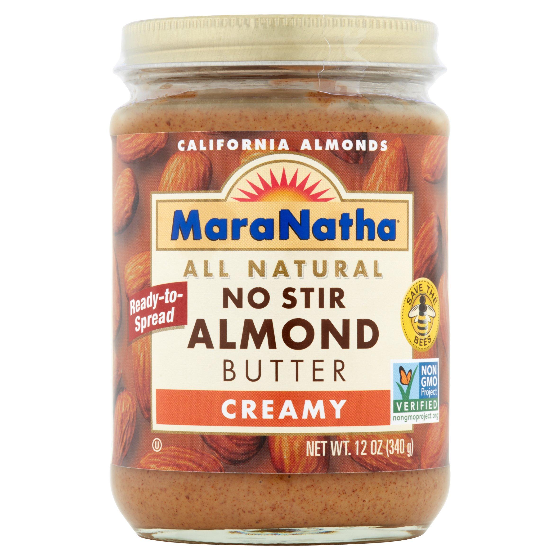 MaraNatha No Stir Creamy Almond Butter, 12 oz, 6 pack