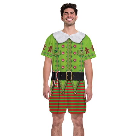 Elf Christmas Men's Romper - Creative Halloween Customs