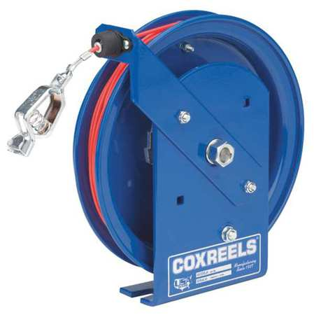 COXREELS SD-50-1 Cable Reel, 50 ft, 3/32 In., Blue