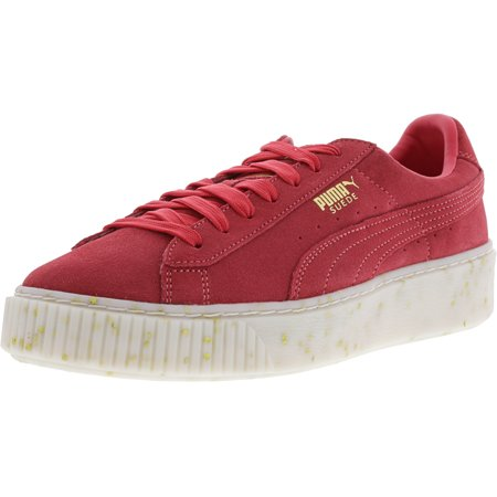 Puma Women's Suede Platform Celebrate Paradise Pink / Team Gold Ankle-High Leather Sneaker - 9.5M