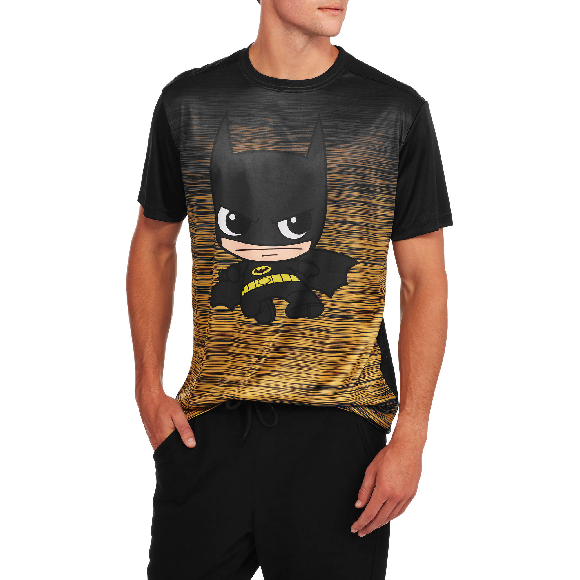 Batman Men's Character Embossed Poly Tee