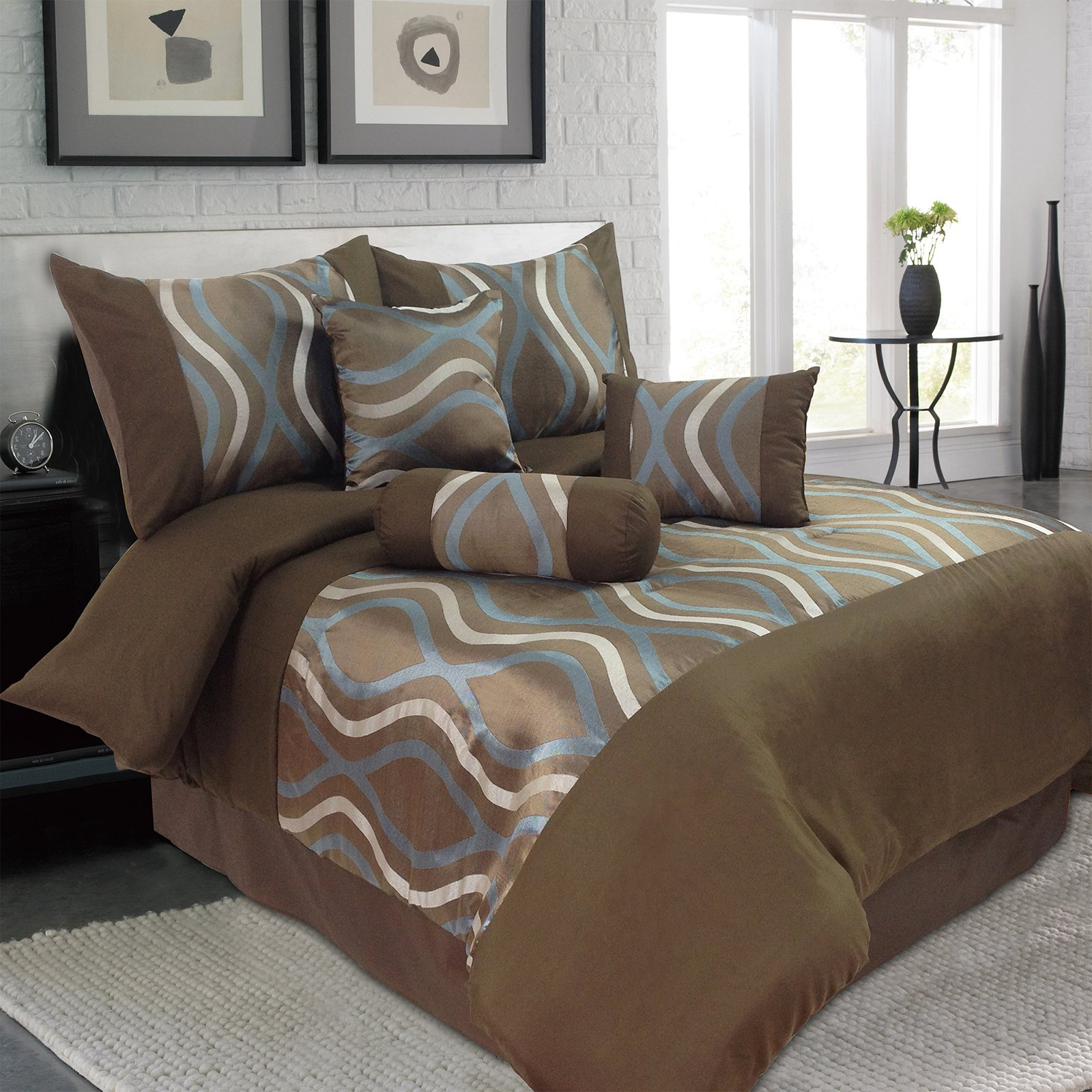 Galina 7 Piece Comforter Set by Lavish Home