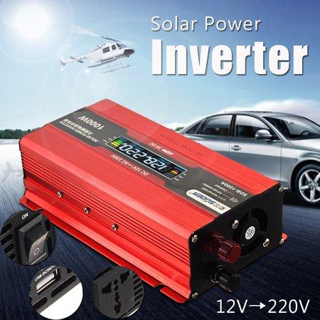 1000W Car LED Display Solar Power Inverter 12V To 220V USB Sine Wave  - image 5 of 6