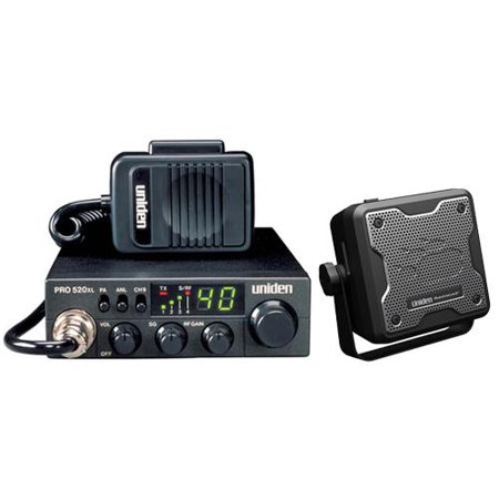 Uniden PRO520XL CB radio with external speaker