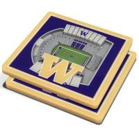 Washington Huskies 3D StadiumViews Coasters - Purple - No Size