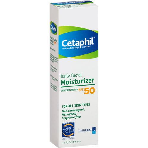 Cetaphil Spf 50 Facial Moisturizer Uva/Uvb Defense, 1.7 fl oz