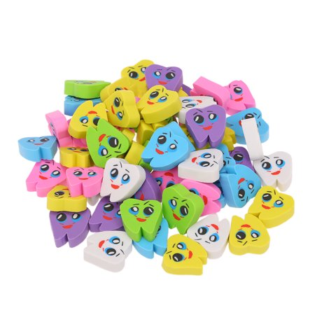 50pcs/bag Molar Shaped Tooth Rubber Erasers Dentist Dental Clinic School Great Gift For Kids