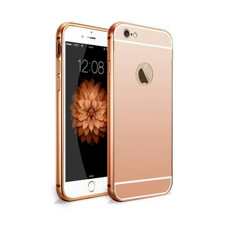 Luxury Metal Bumper Ultra-thin Mirror Back Case Cover For Apple iPhone 6 6S  - Walmart.com 490e15de16