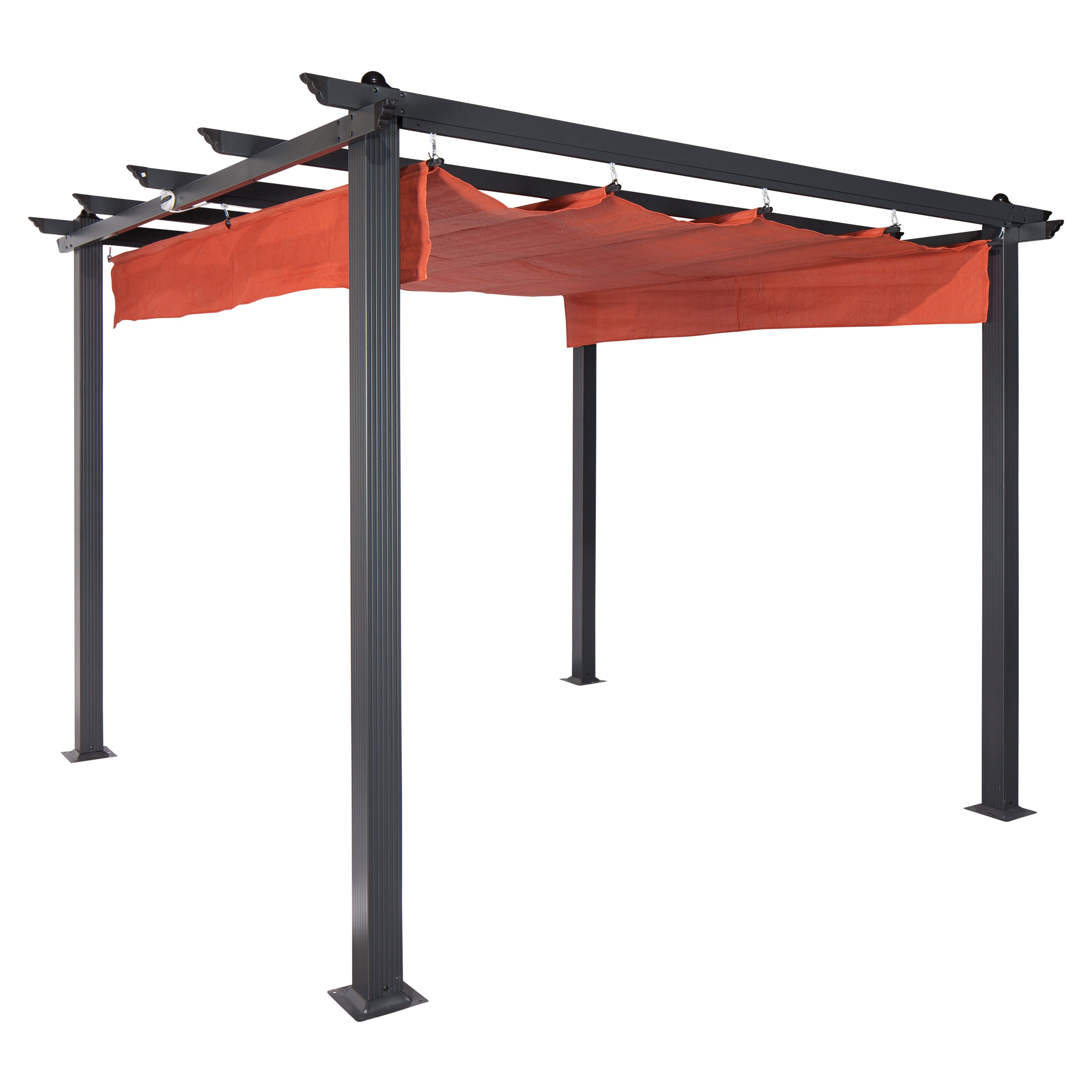 Coolaroo Constantine Pergola, 9' x 9', Terracotta by Gale Pacific USA Inc