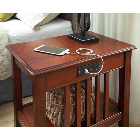 Mission Nightstand With Charging Station Walmart Com Walmart Com,What Paint For Bathroom Cabinets